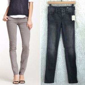 Skinny Straight Jeans Gray Level 99 Anthropologie
